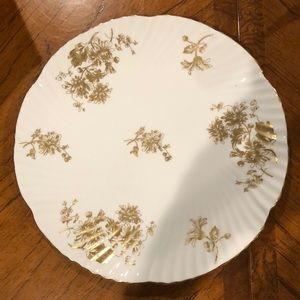 Hammersley & Co golden floral plate.